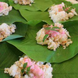 朴葉寿司作り