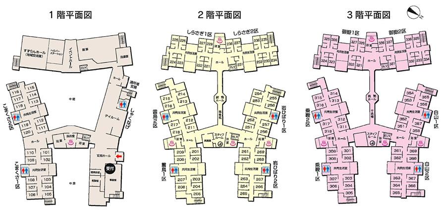 南風園施設図