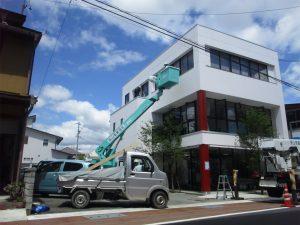 高山電業協会 窓拭きボランティア